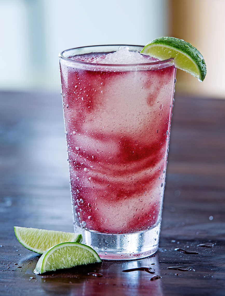 Frozen Strawberry Swirl Margarita Dallas beverage photography