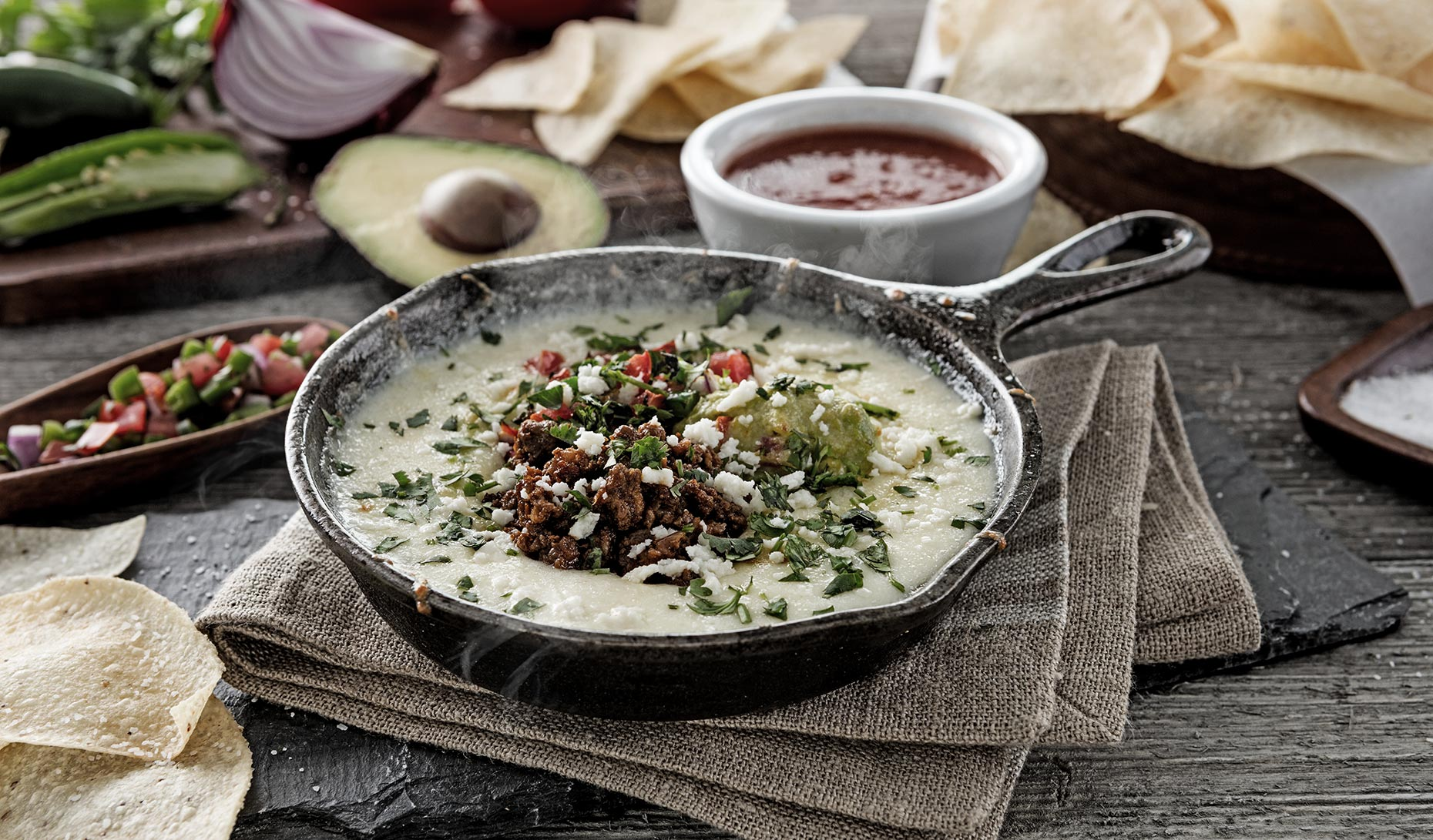 Skillet Queso, Dallas Food Photography