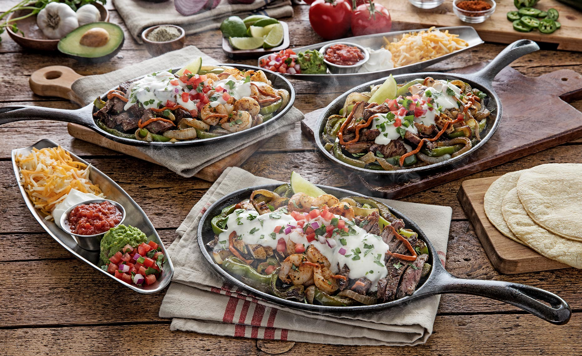 Loaded Fajita Trio Dallas Food Photographer