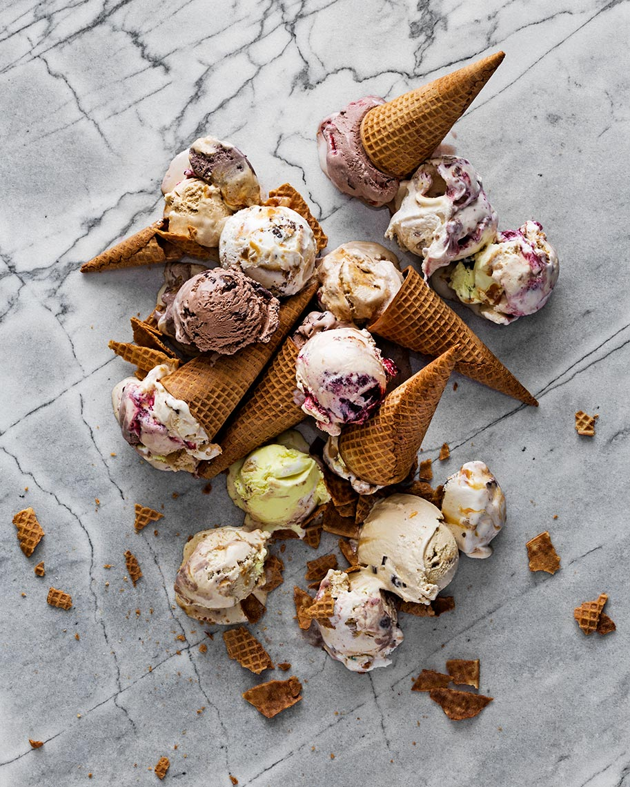 Smashed Ice Cream Cones Dallas Food Photography