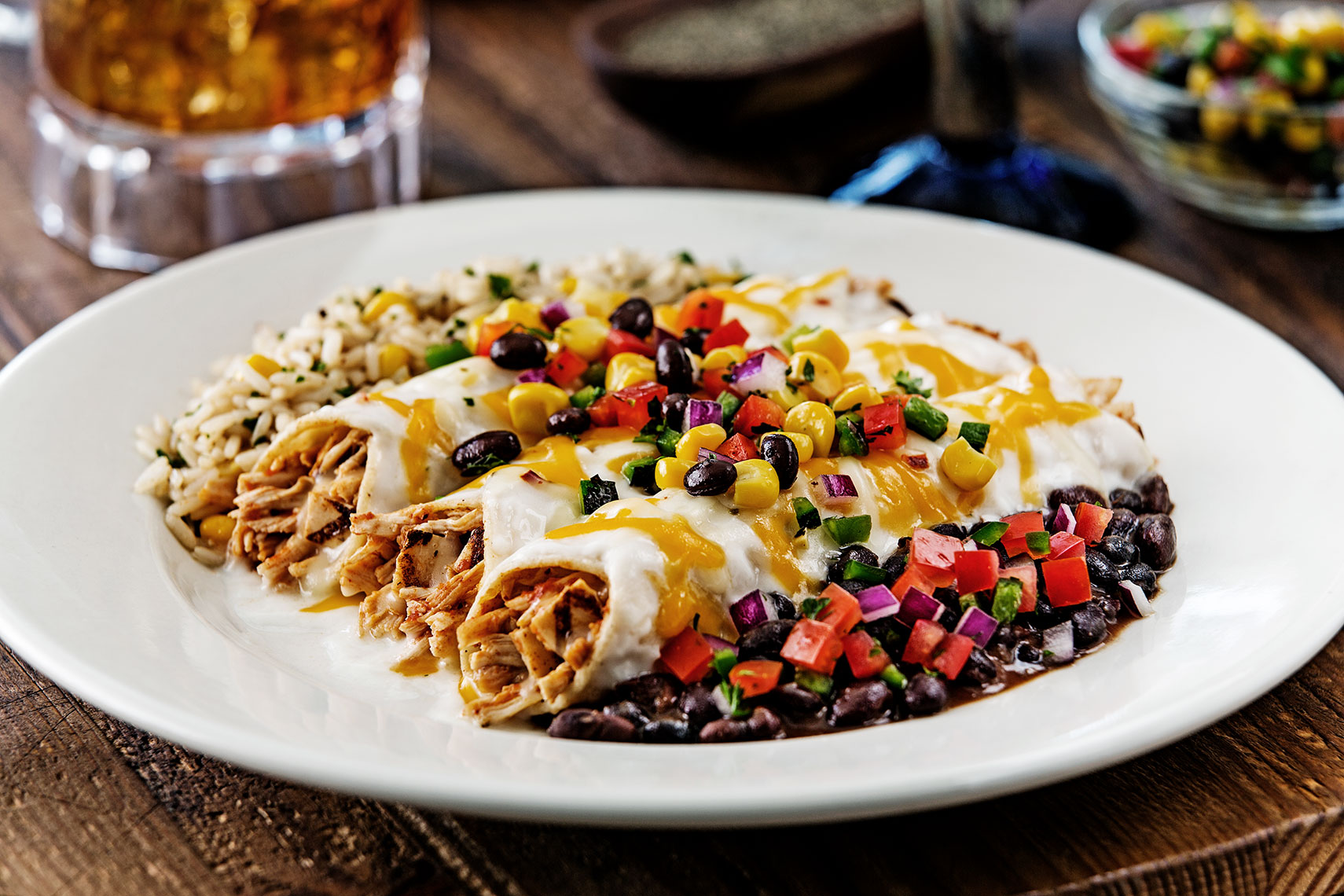 ChickenEnchiladasDallasFoodPhotography
