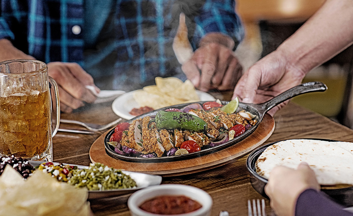 Serving Fajitas Agent485 Food Photography Dallas
