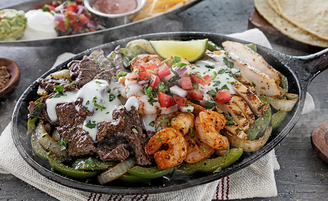 Fajita Trio Dallas Food Photography