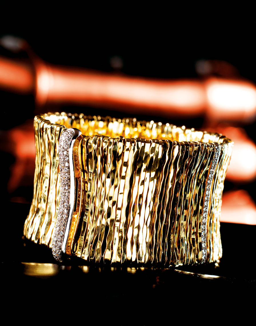 Large Gold Bracelet Dallas product photography