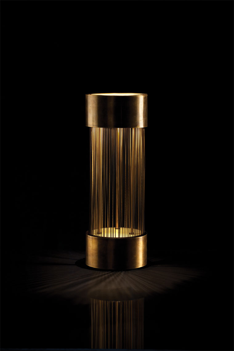 Gold Lamp on Black Dallas Product photography