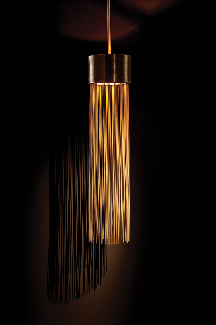 Gold Tassel Chandelier Dallas Product Photography