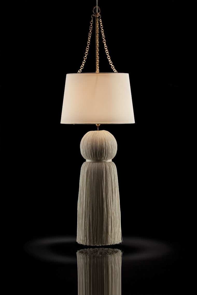 Tassle Lamp Chandelier Dallas Product photography