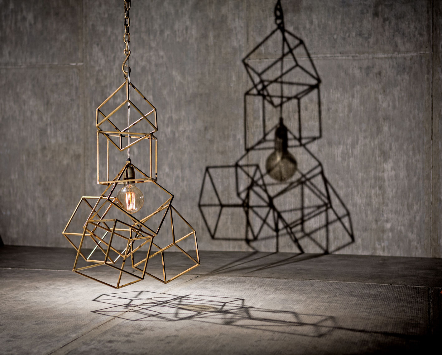 Cube Chandelier Dallas Product Photography